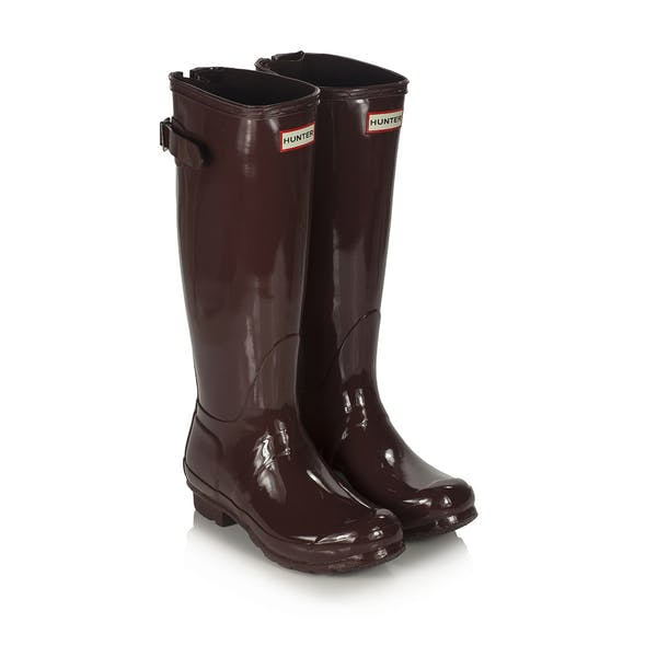 Hunter Original Back Adjustable Gloss Women's Wellington Boots