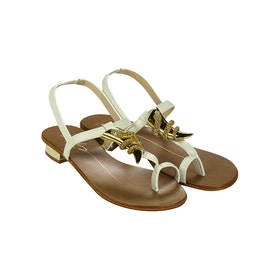 Lola Cruz Snake Women's Sandals - White