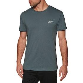 Rhythm Script Short Sleeve T-Shirt - Navy