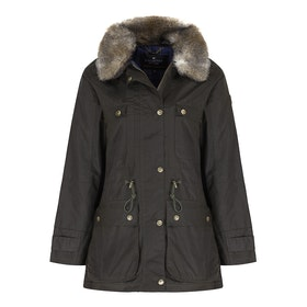 Country Attire Teviot Wax Jacket - Olive