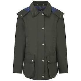 Country Attire Hetton Wax Jacket - Olive