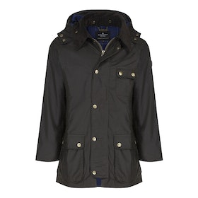 Country Attire Corby Wax Jacket - Olive