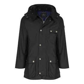 Country Attire Corby Wax Jacket - Black