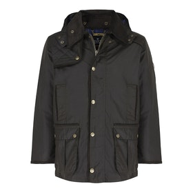 Country Attire Accrington Wax Jacket - Olive