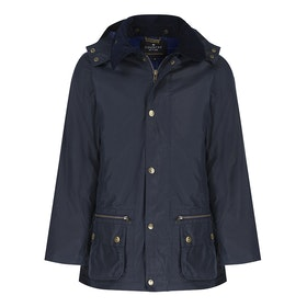 Country Attire Batley Wax Jacket - Navy