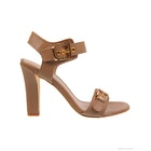 Lola Cruz Double Buckle Evening Heels Dress Shoes