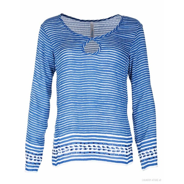Cool Change Biasa Stripe Ava Dames Top