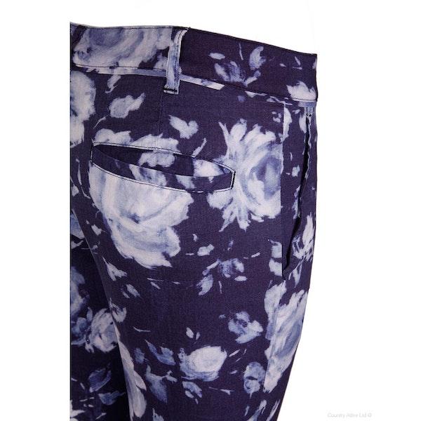 120 Lino Printed , Trousers Dam