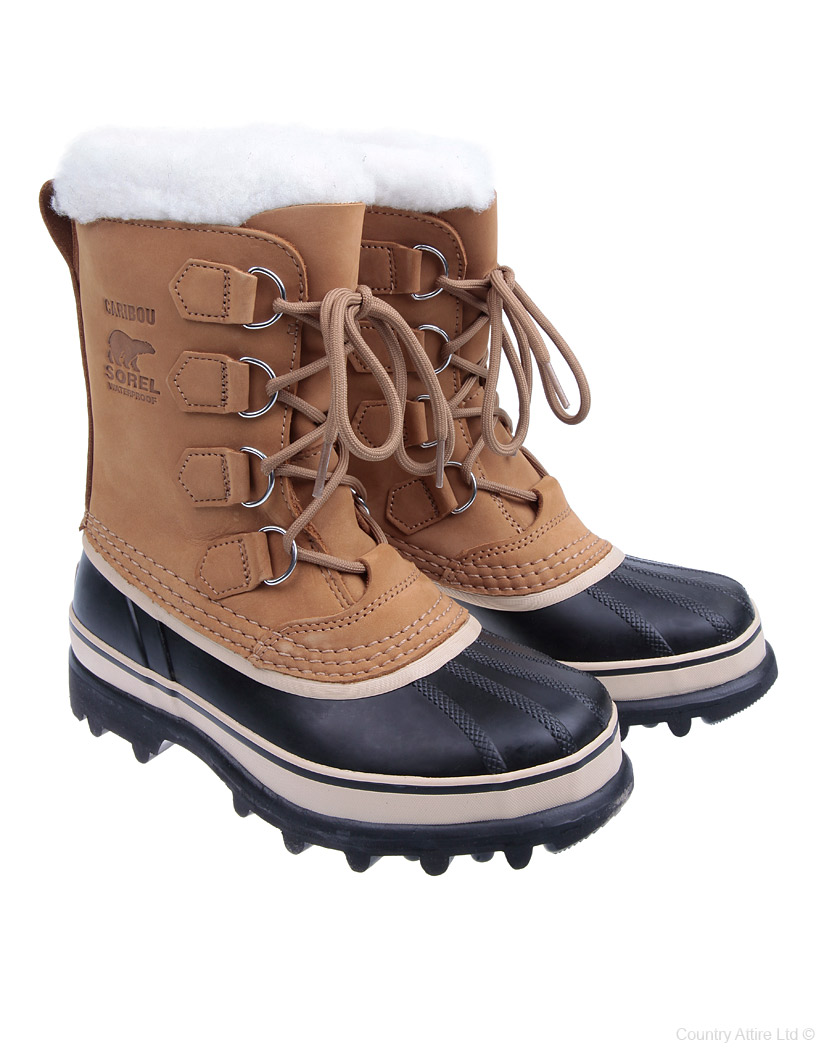 Sorel Caribou Faux Fur Women's Boots Buff Buff Verkauf bei