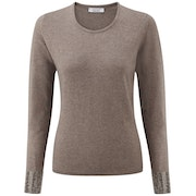 CO/AT Chianti CashmereWith Swarovski Crystals Women's Sweater