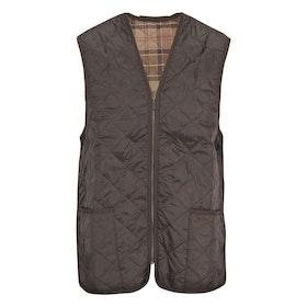 Barbour Quilted Zip In Liner Men's Gilet - Rustic