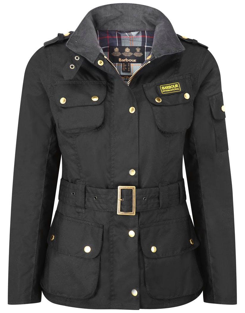 Barbour International Classic Women S Wax Jacket Black