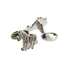 Paul Smith Men Stripe Zebra Cufflinks
