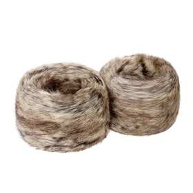 Helen Moore Wrist Faux Dame Fur Cuffs - Truffle