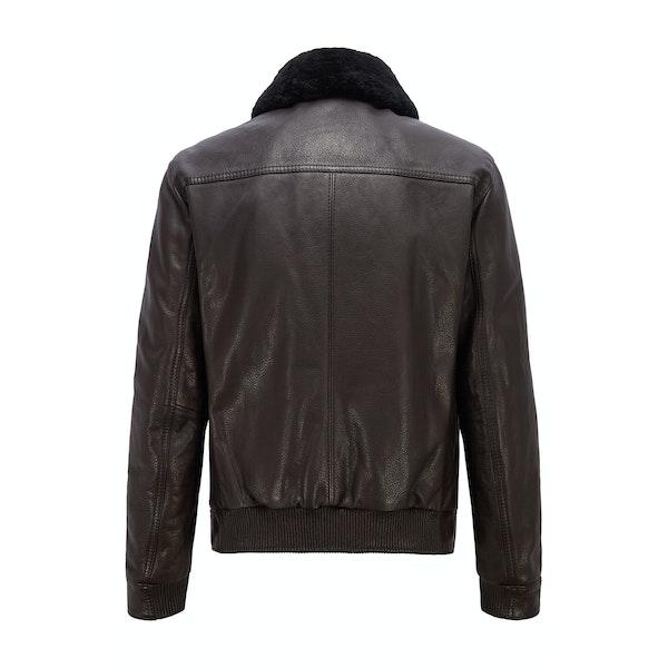 BOSS Jamade Leather Jacket