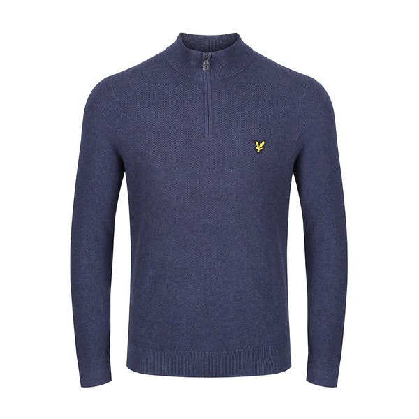 Lyle & Scott Moss Stitch Zip Sweter
