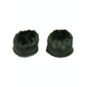 Fur Cuffs Donna Troy London Faux - Forest Green