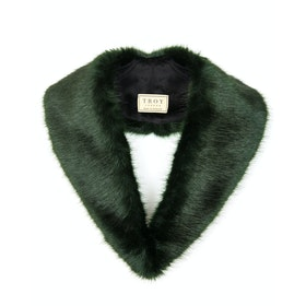 Sciarpa Donna Troy London Faux Fur Lapel Collar - Forest Green