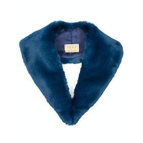 Troy London Faux Fur Lapel Collar Women's Scarf - Teal