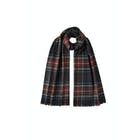 Johnstons Of Elgin 100% Extra Fine Merino Wool Tartan Scarf