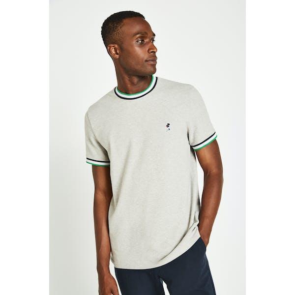 Jack Wills Baildon Pique Ringer Short Sleeve T-Shirt