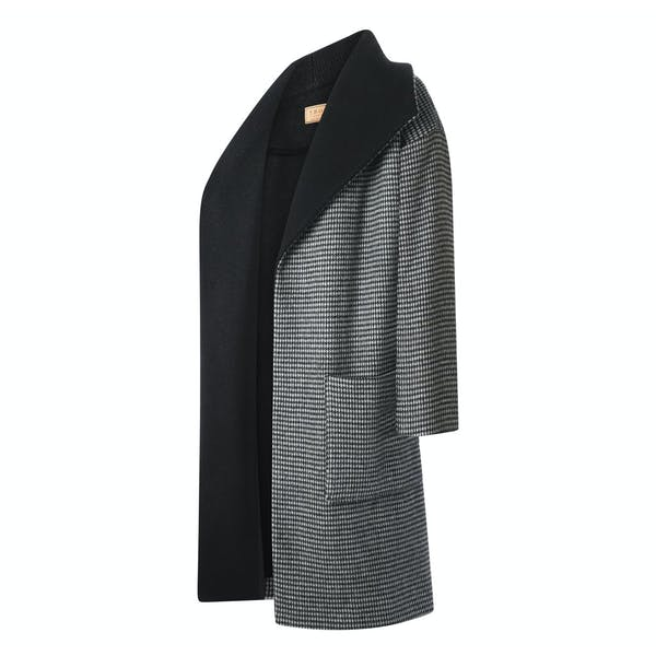 Troy London Dogtooth Wool Dames Jas