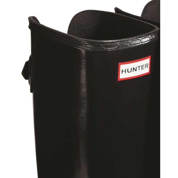 Hunter Refined Back Adjustable Tall W/ Ankle Strap Gloss Womens ウェリントンブーツ