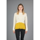 Peregrine Made In England Fisherman Colour Block Damen Pullover