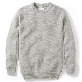 Peregrine Made In England Mason Crew Sweater - Lt Grey