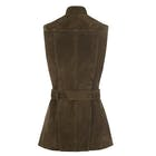 Troy London Belted Suede Fashion Waistcoat