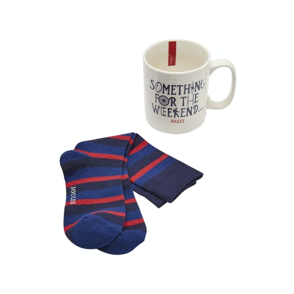 Joules Mug and Bamboo Socks Herren Gift Set