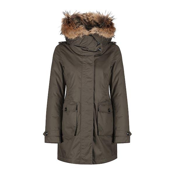 on sale 1889e e3b4c Woolrich Scarlett Parka Women's Jacket - Military Olive ...