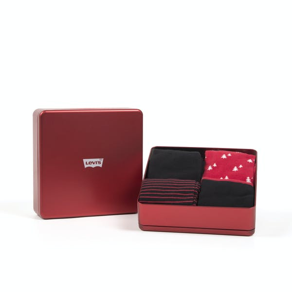 Meias Levi's 4 Pack Regular Cut Giftbox