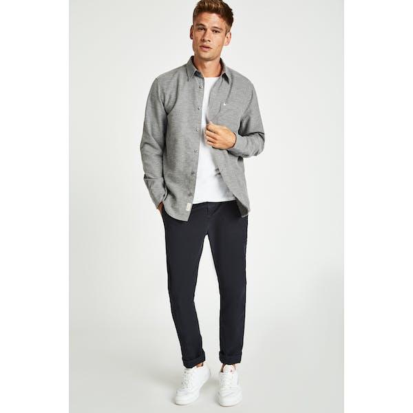 Jack Wills Palewell Lw Flannel Texture Overhemd