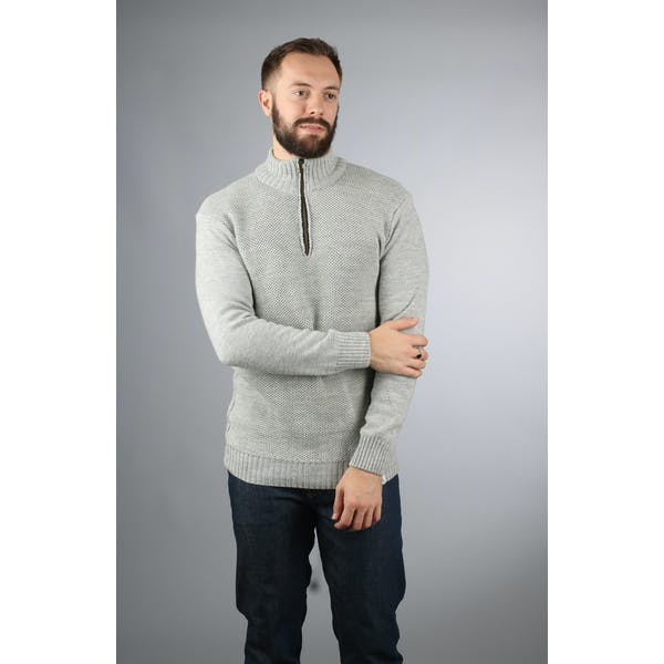 Peregrine Made In England Bailey Zip Neck Sweater