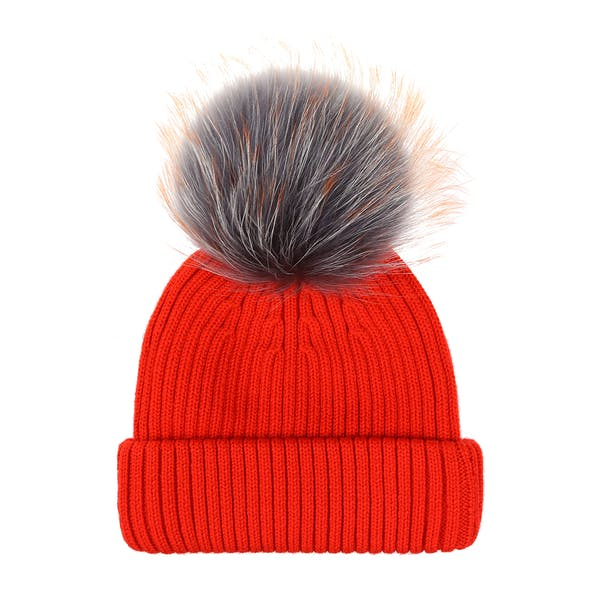 BKLYN Raccoon Pom Beanie