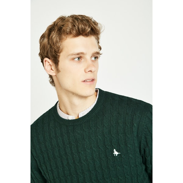 Jack Wills Marlow Cable Crew Pullover