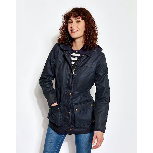 Joules Daubenay Faux Women's Wax Jacket