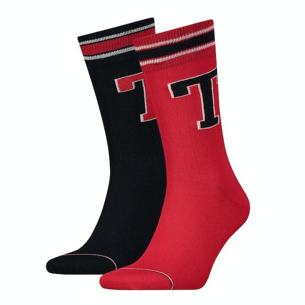 Tommy Hilfiger Patch 2 Pack Men's Socks