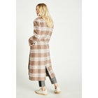 Jack Wills Blythe Long Checked Robe Женщины Куртка