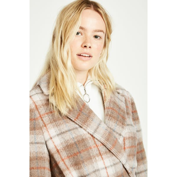 Jack Wills Blythe Long Checked Robe Dames Jas