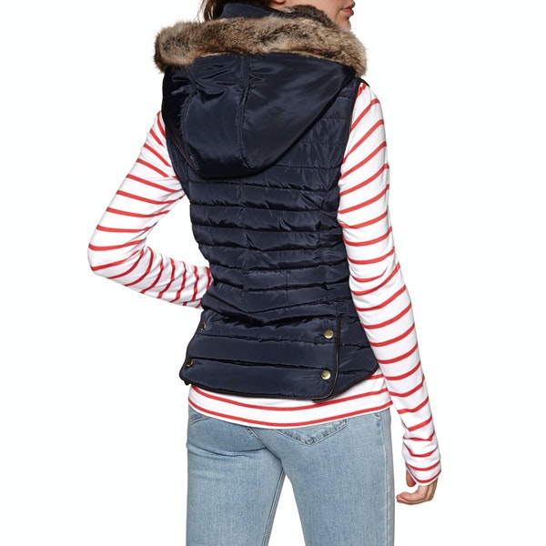 Joules Melbury Padded with Faux Fur Hood Women's Gilet