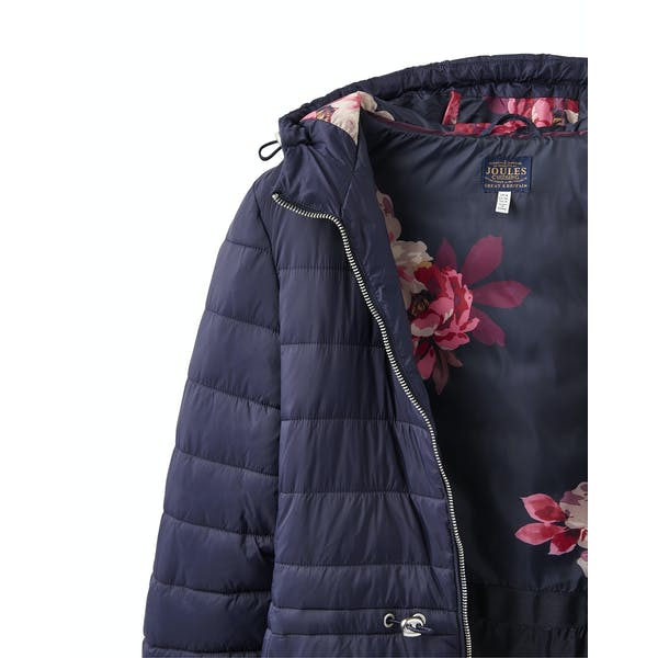 Joules Heathcote Mid Length Hooded Puffa Women's Jacket