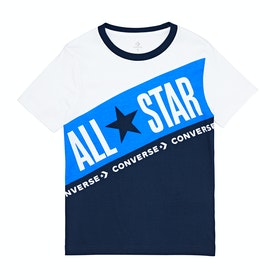 Converse All Star Blocked Kids Short Sleeve T-Shirt - Navy