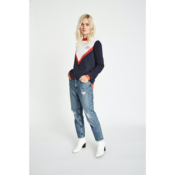 Jack Wills Springton Colour Block Crew Women's Sweater