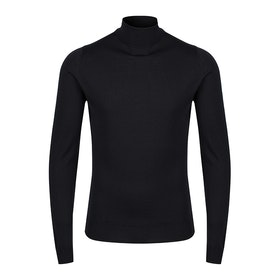 Sweter Męskie John Smedley Made in England Cherwell Roll Neck - Black