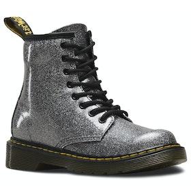 Dr Martens 1460 Glitter Kid's Boots - Gunmetal Coated Glitter