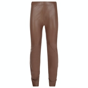 Troy London Stretch Leather Women's Leggings - Brown