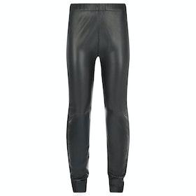Troy London Stretch Leather Women's Leggings - Black