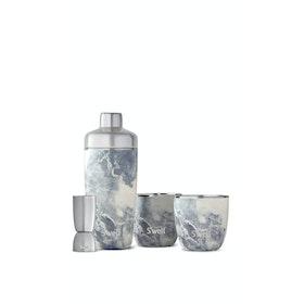 Swell Bottles Barware Wasserflasche - Blue Granite Bareware Set